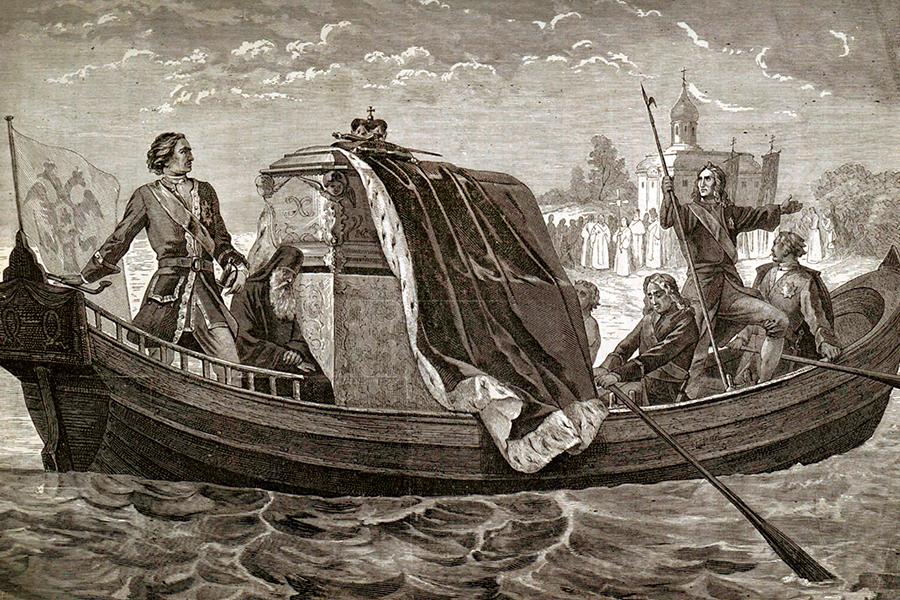 Перенесение мощей святого благоверного князя Александра Невского Петром I