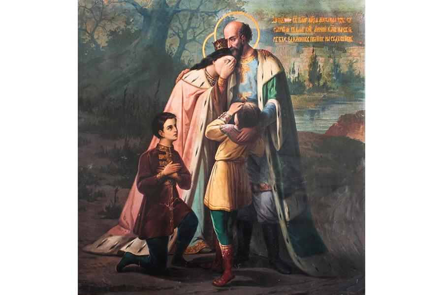 Прощание святого благоверного князя Михаила Тверского с супругой, святой благоверной княгиней Анной