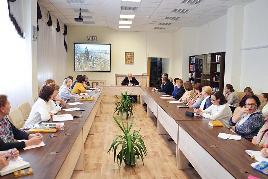 Встреча игумена Киприана (Ященко) с педагогами нижегородской гимназии
