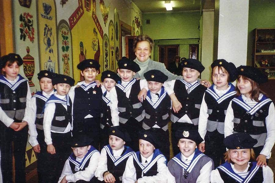 Лилия Погодина с учениками