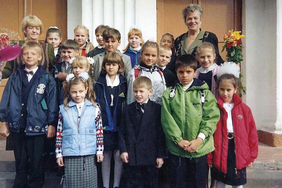 Лилия Погодина со своими воспитанниками
