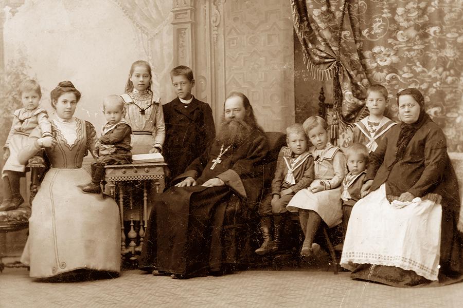 Семья священника, 1902 г.