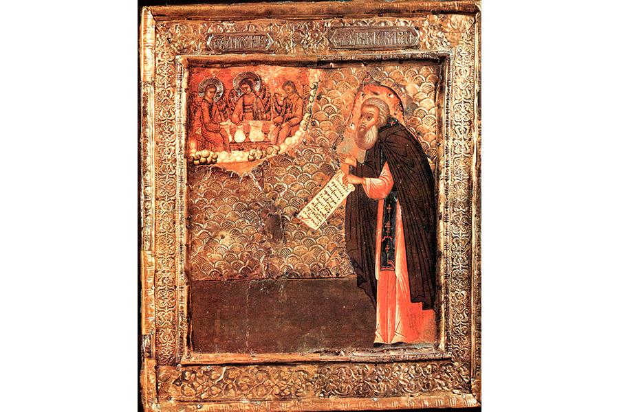 Преподобный Макарий Калязинский, икона 17 века