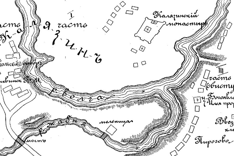 Схема местности, где происходила битва, составлена И. Тюменевым и В. Павловым