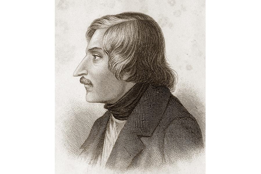 Портрет-гравюра Н.В. Гоголя