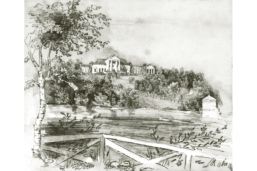 Усадьба Рачинских в Татево. 1848 г.