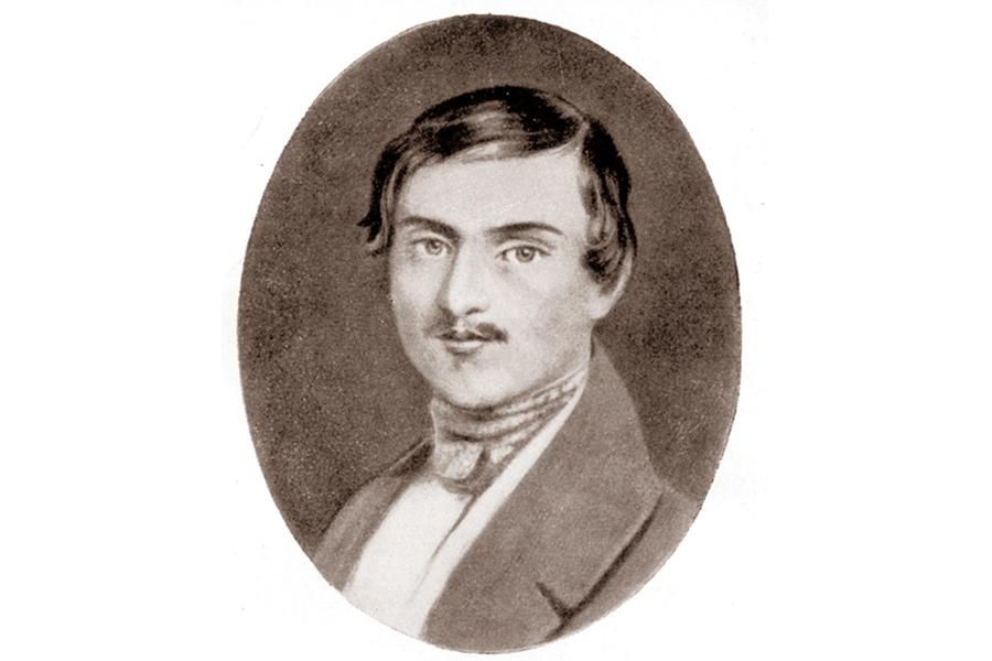 Гоголь в молодости, миниатюра Видаля