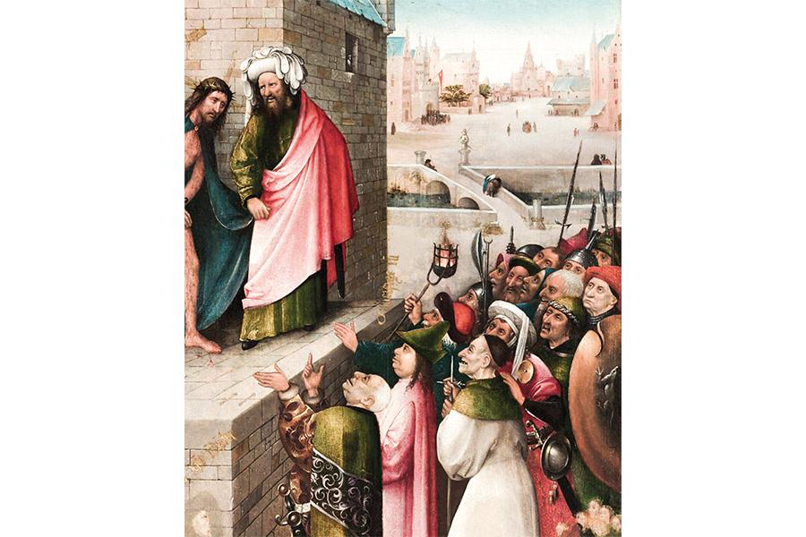 Распни его, распни! Фрагмент картины Иеронима Босха Ecce Homo (Се человек). 1485 г.