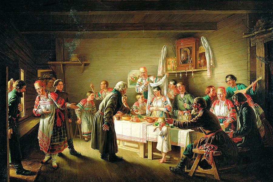 Петров Н.П. Смотрины невесты. 1861 г.