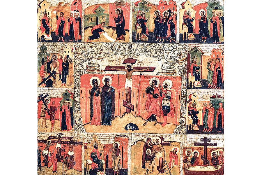 Страсти Христовы. Икона из Софийского собора, Великий Новгород, XV в.
