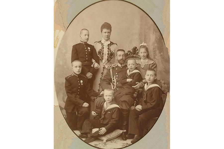 Великий князь Константин Константинович с семьей