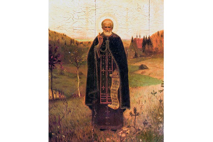 Преподобный Сергий Радонежский. Икона, конец 19 века
