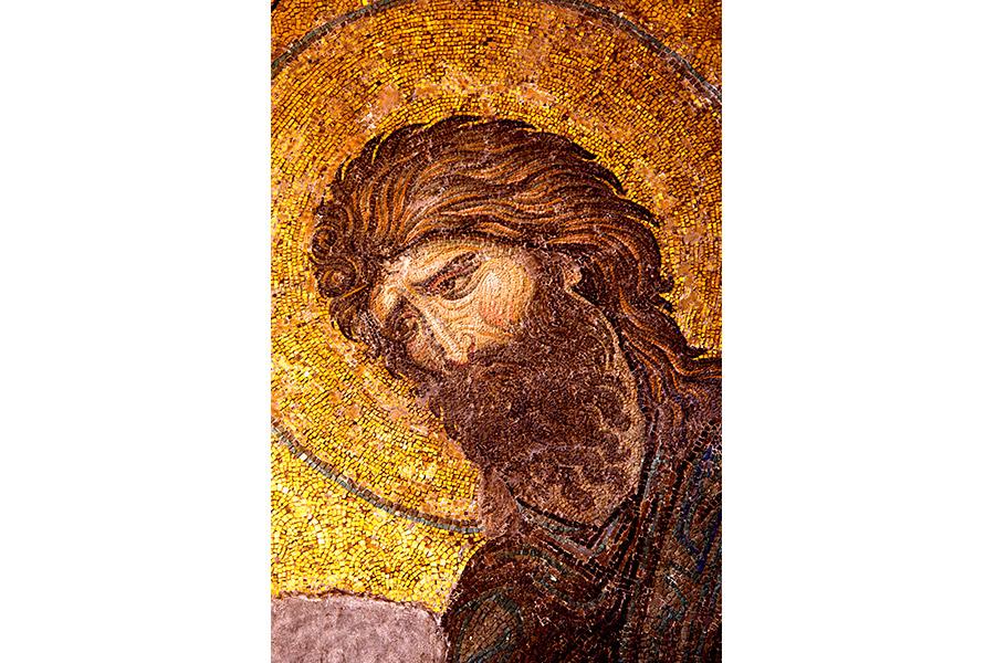Святой Пророк Иоанн Предтеча. Фреска в храме Святой Софии