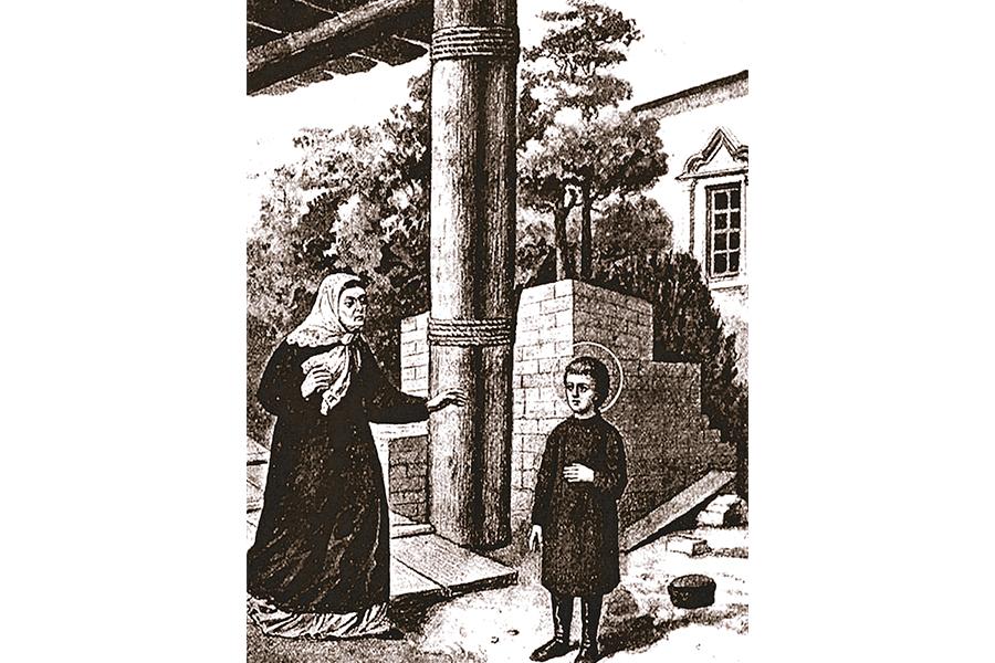 Агафия благословляет сына Прохора уйти в монастырь
