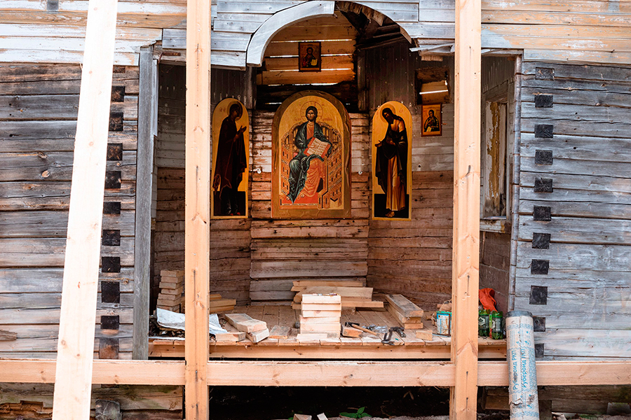 Храм Рождества Иоанна Предтечи (1900 г.). Вологодская область, Устюженский район, деревня Шуклино
