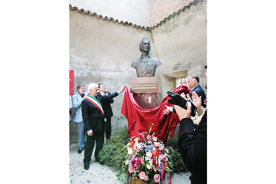 Открытие памятника А.В. Суворову в Ломелло (Италия) в 2011 г.