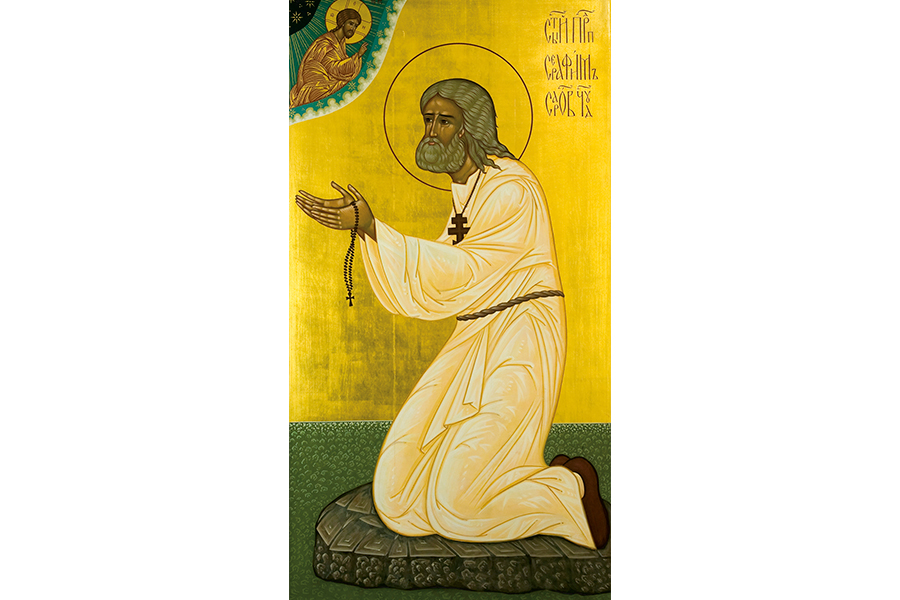 Преподобный Серафим Саровский. Икона из храма Святого Великомученика Димитрия Солунского на Благуше, Москва