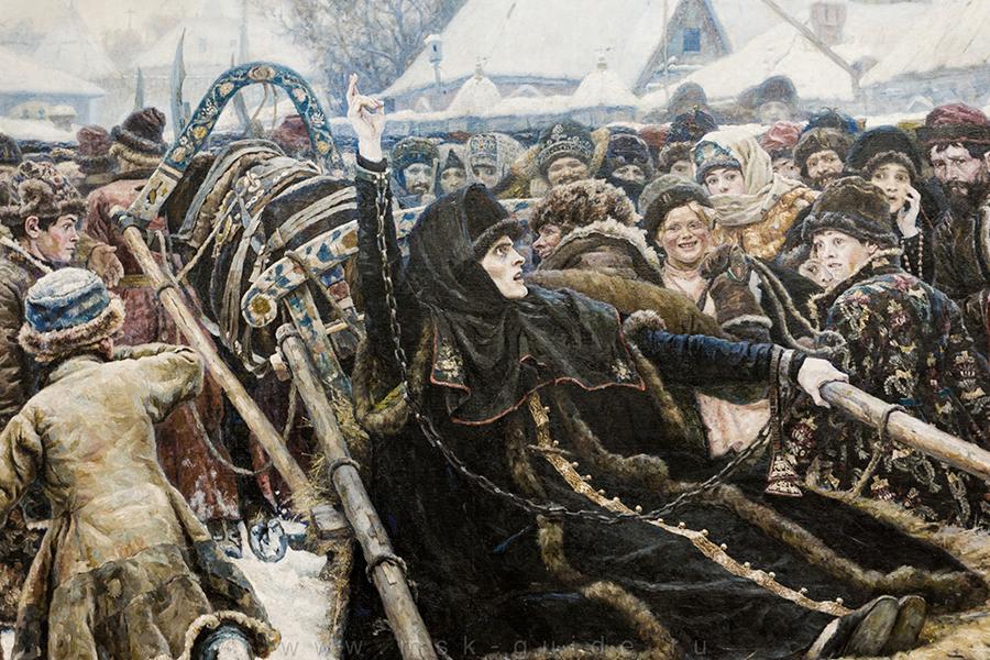 В.И. Суриков. Боярыня Морозова. 1887. Фрагмент