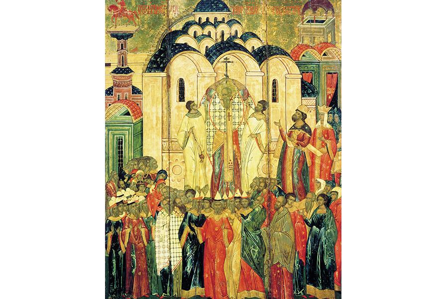Воздвижение Креста Господня. Икона XVI в.