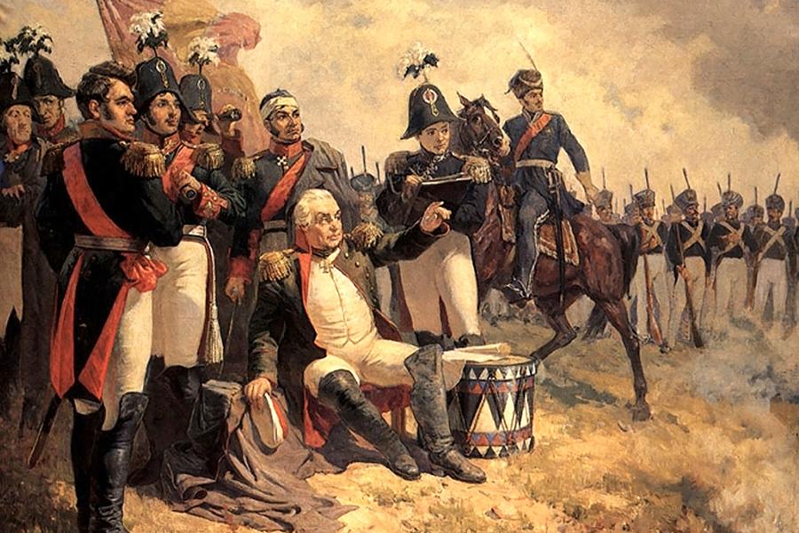 Кутузов во время Бородинского сражения