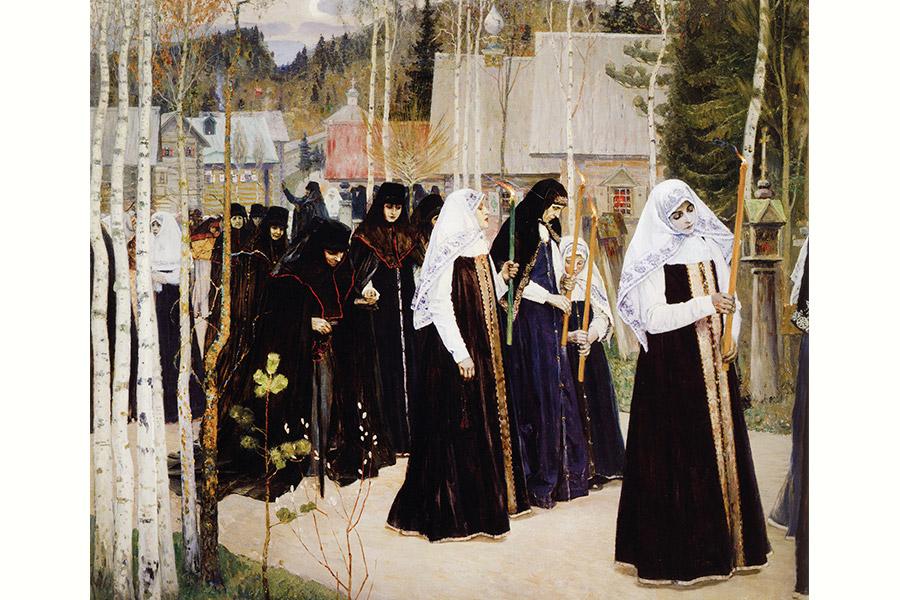 М.В. Нестеров. Великий постриг. 1898 г.