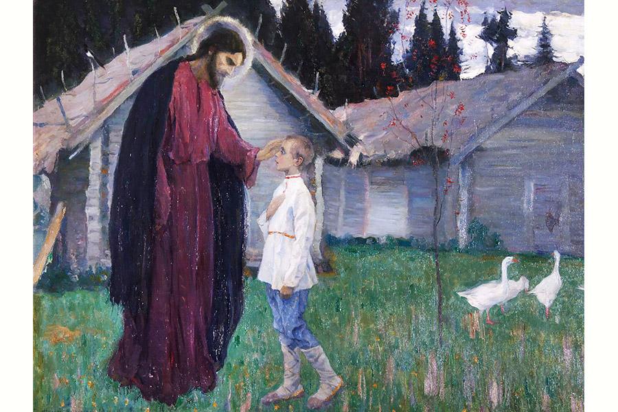 М.В. Нестеров. Благословение отрока Варфоломея