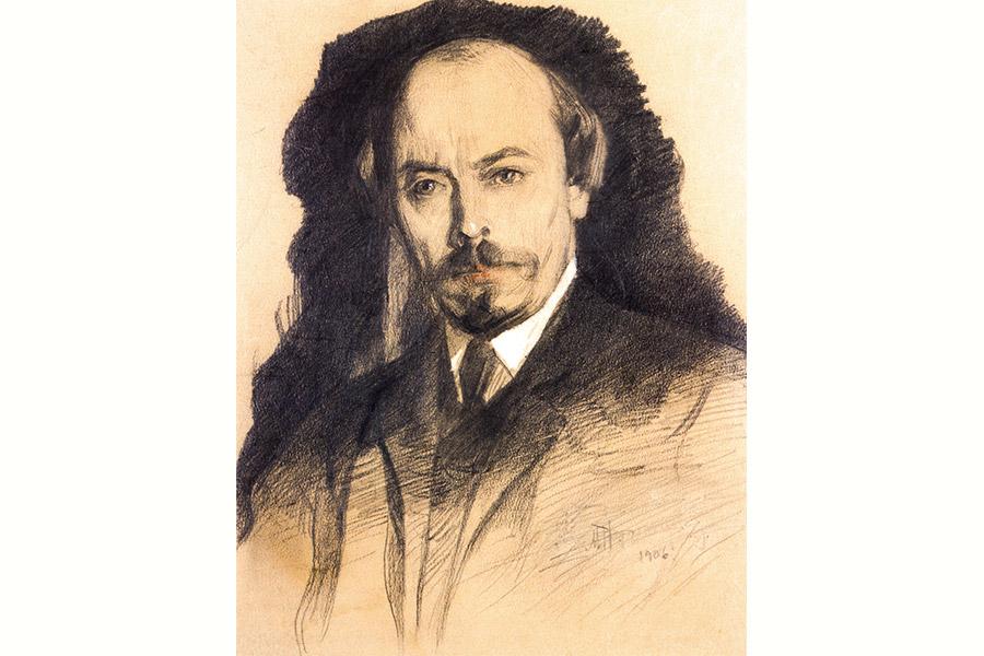 Михаил Васильевич Нестеров. Автопортрет. 1906 г.