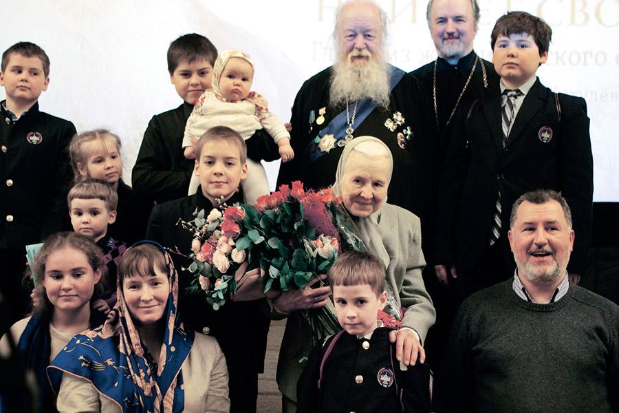 Протоиерей Валериан Кречетов с родными и близкими