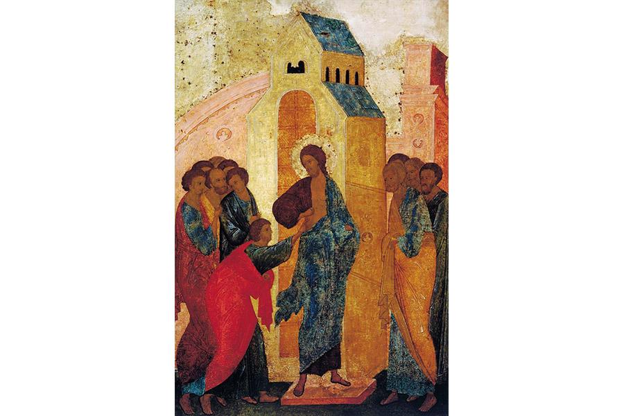 Уверение Фомы. С иконы Дионисия
