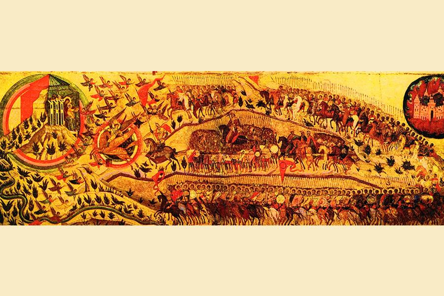 Благословенно Воинство Небесного Царя. Икона, середина XVI в.