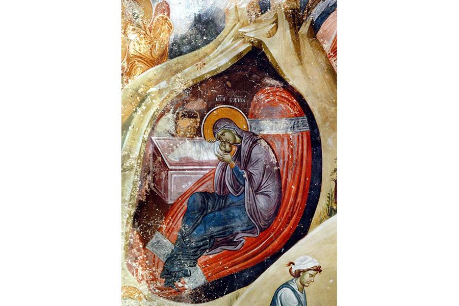 Фреска Рождество Христово. Сербия