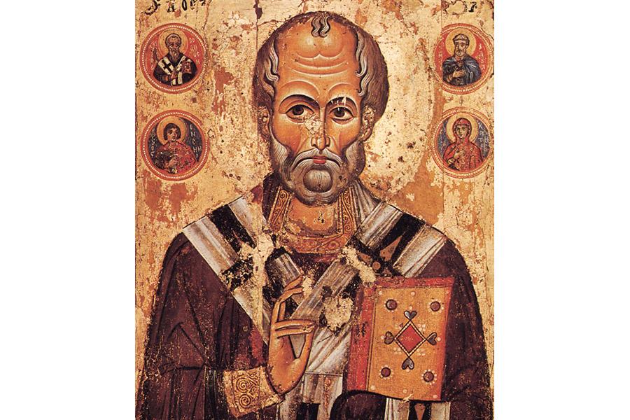 Святитель Николай Мирликийский. Икона 13 века
