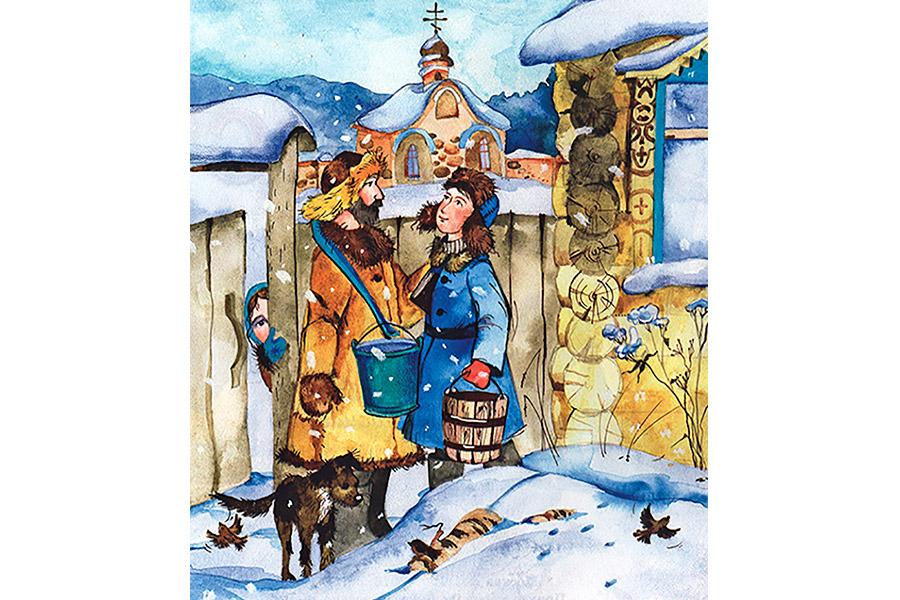 Иллюстрация к рассказу Н.С. Лескова «Христос в гостях у мужика»