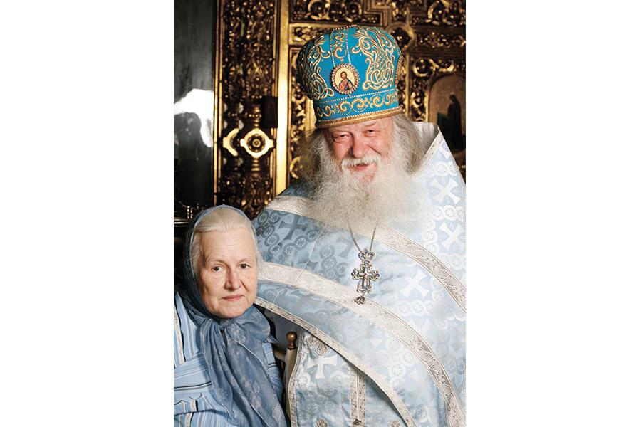 Протоиерей Валериан с матушкой Наталией, 2010 г.