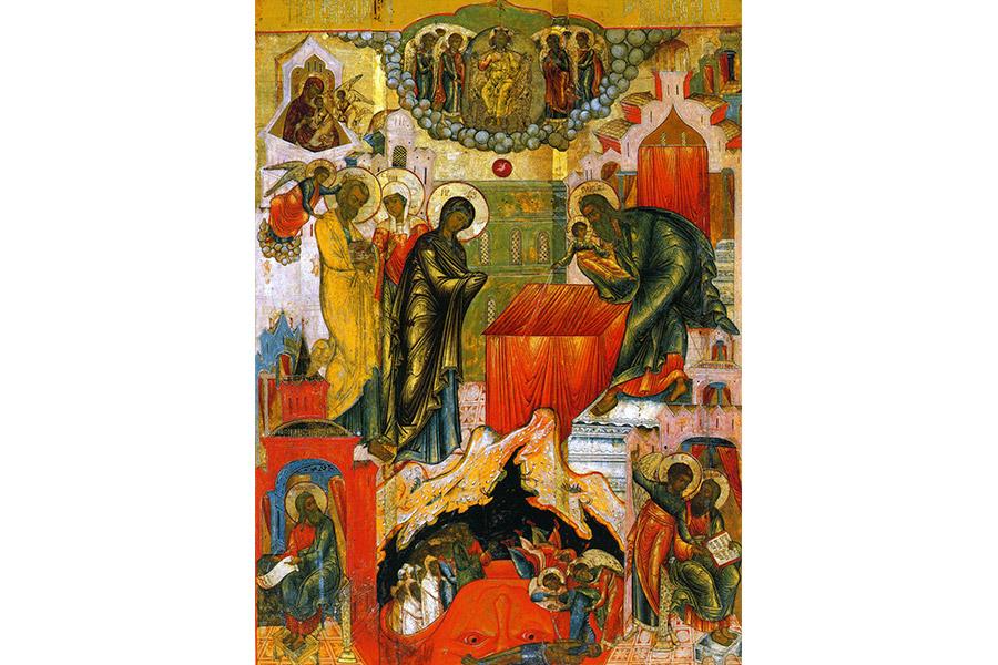 Сретение Господне XIX в., икона, Кострома