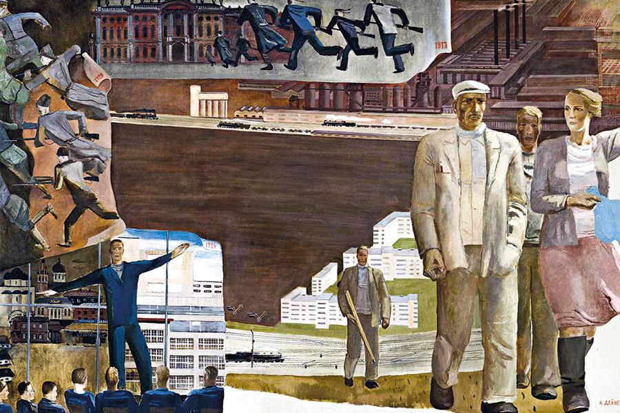 Кто кого. Картина Александра Дейнеки. 1932 г.