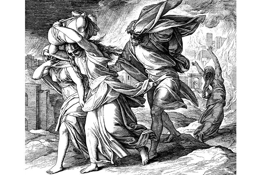 И пролил Господь на Содом и Гоморру дождем серу и огонь от Господа с неба, и ниспроверг города сии