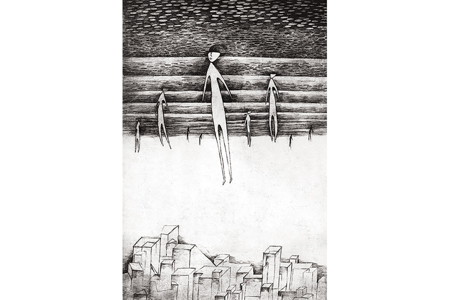 Иллюстрация к роману О. Хаксли