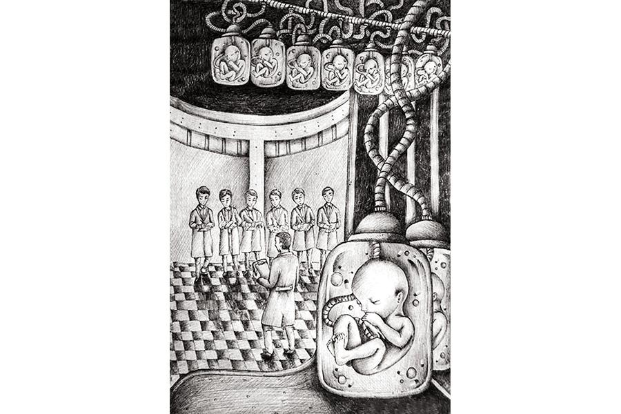 Иллюстрация к роману Хаксли