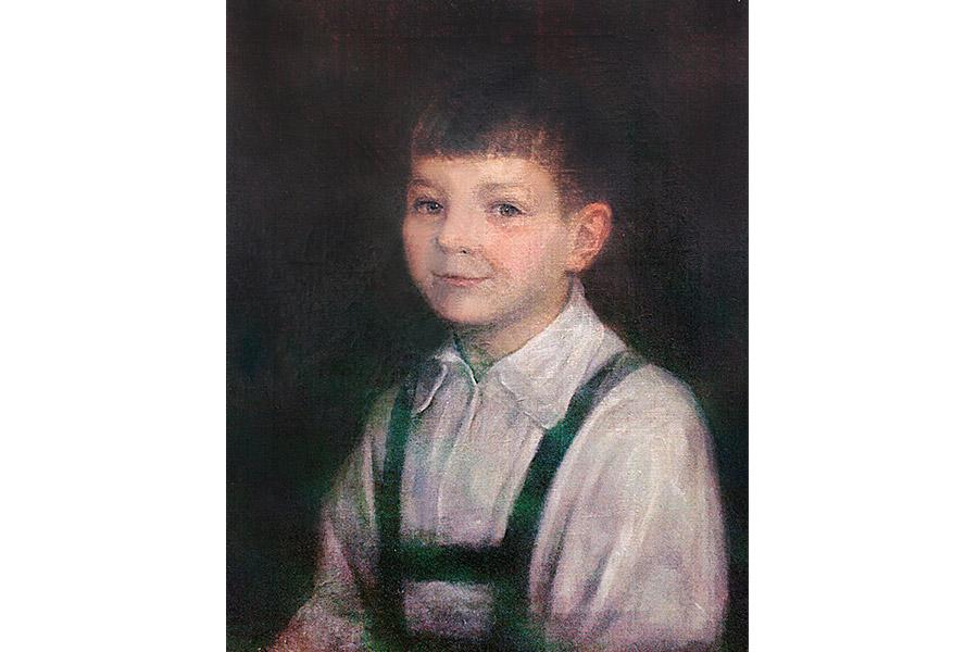 Портрет Алеши работы его дедушки, Леонида Ивановича