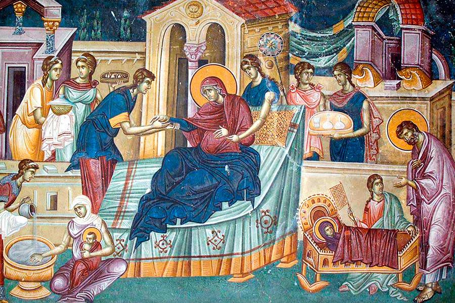 Рождество Пресвятой Богородицы. Фреска