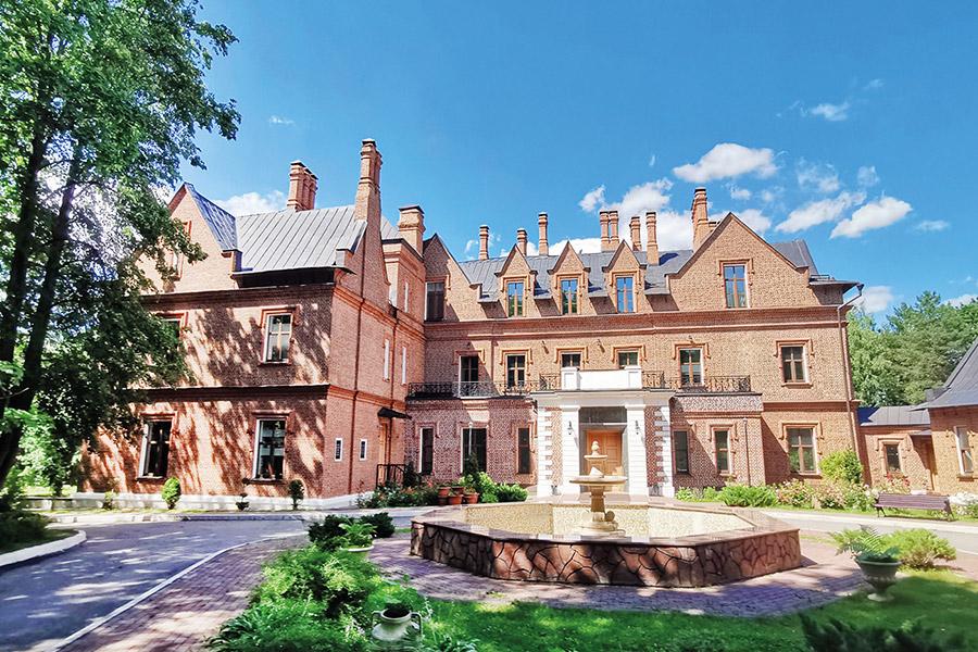 Замок князей Щербатовых. Построен в 1881 г. Современное фото