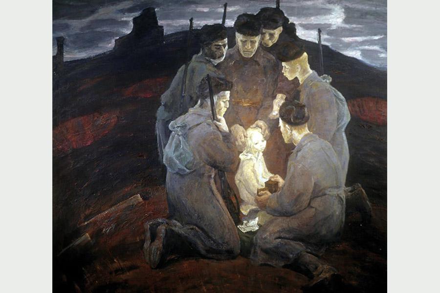 Б. Неменский. Солдаты-отцы