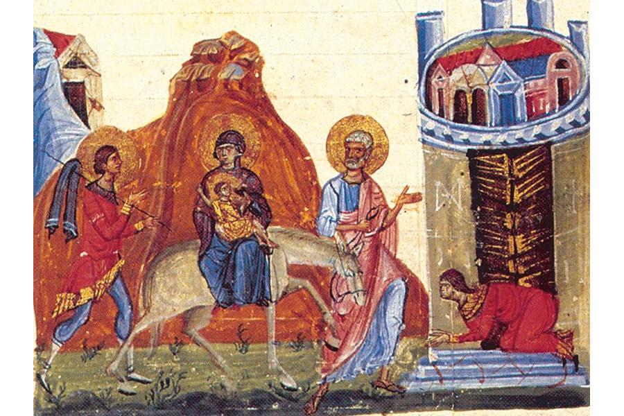 Бегство Святого Семейства в Египет. Миниатюра