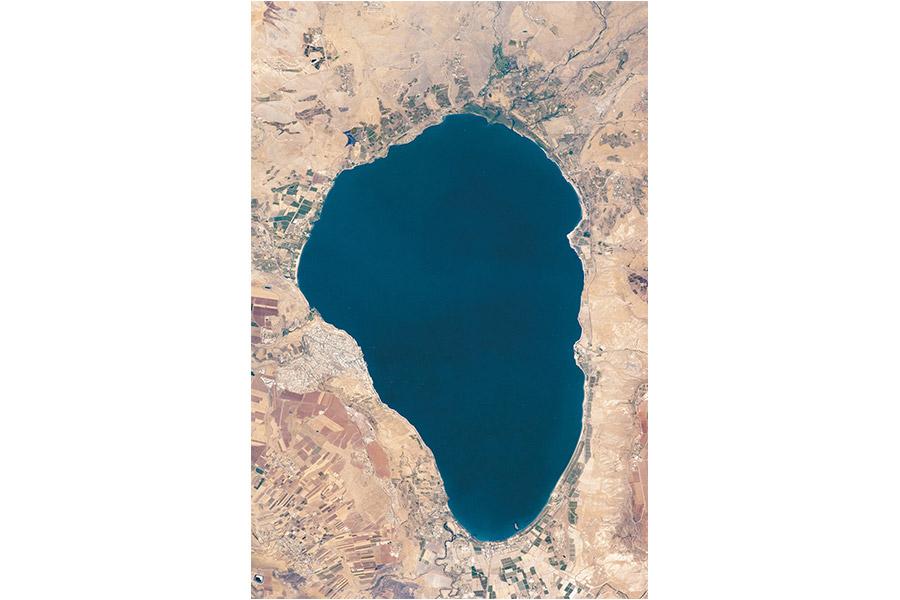 Галилейское море. Фотография со спутника
