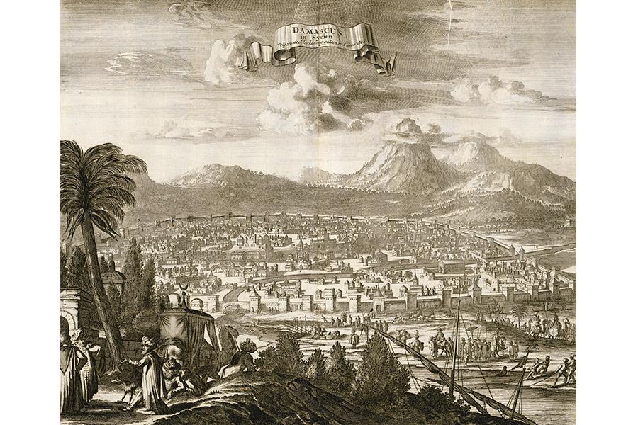 Дамаск. Гравюра 1677 г.