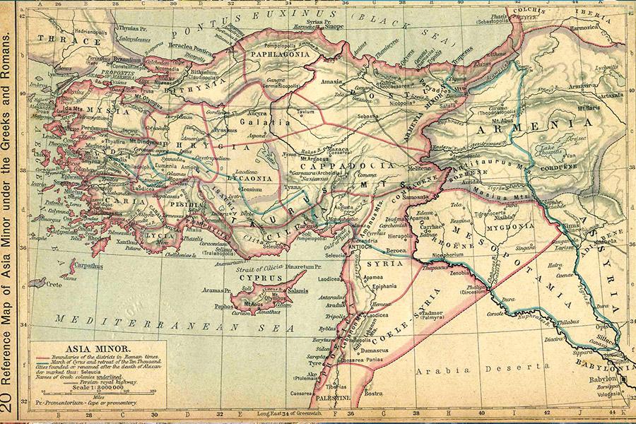 Карта Средней Азии из исторического атласа