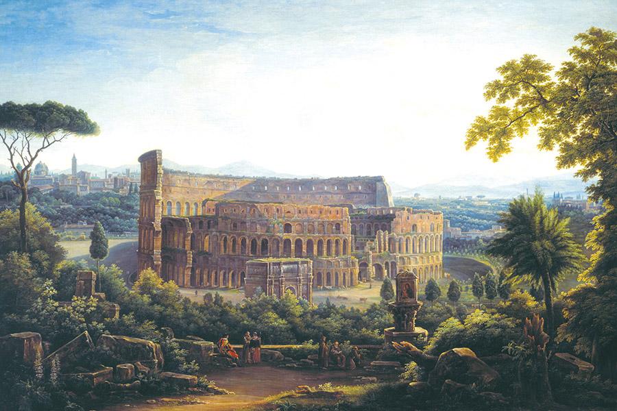 Федор Матвеев. Вид Рима. Колизей. Фрагмент. 1816 г.