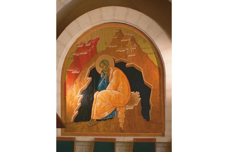 Фреска в храме Святого Петра в Галликанту