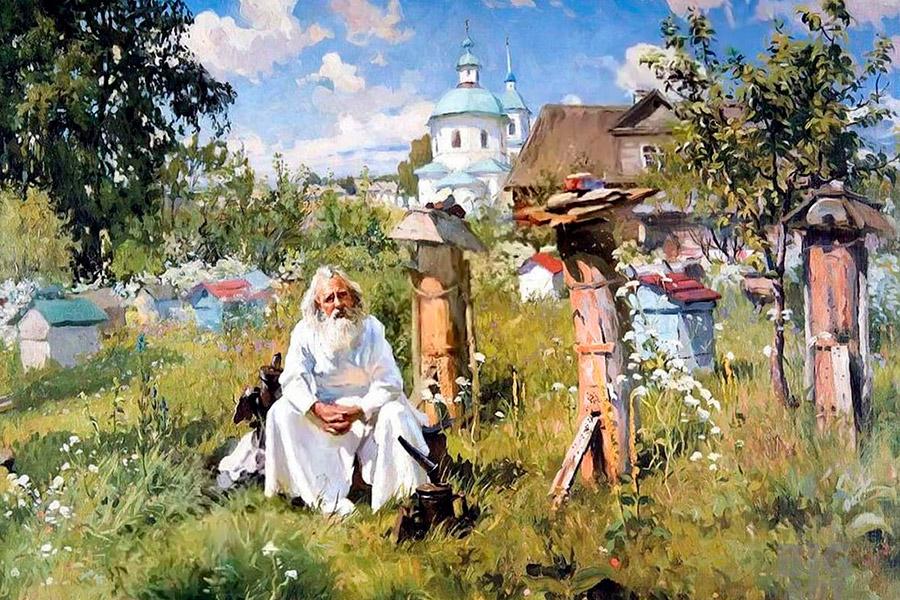 А.В. Маковский. На пасеке. 1916 г.